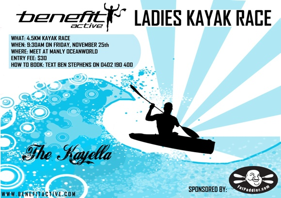KAYELLA - A fun social ladies kayak race