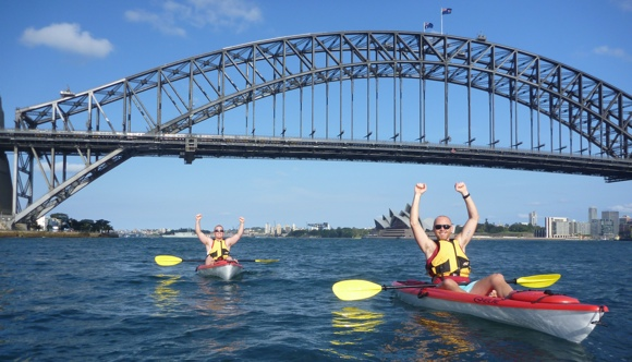 It'd almost be a crime to NOT paddle in Sydney!