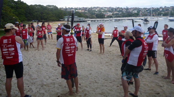 Over 100 competitors gathered on the beach at Balmoral ready to race