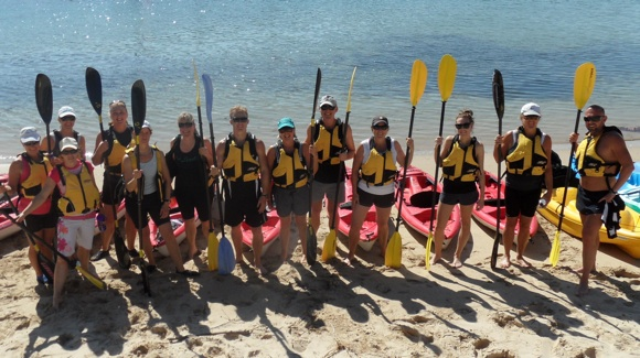 The crew at Benefit Active all smiles after another on-harbour session