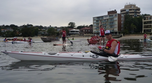 Team Fat Paddler's Commander Alan lines up at the start of Race 2