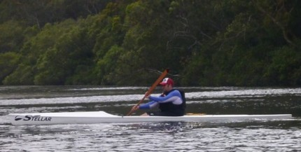 Flat water is a good chance to work on the initial stability required for ski paddling