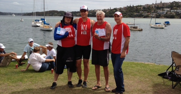 Alan gets a 2nd in the Mens Kayak class, beaten by the slightly older fella on the right!