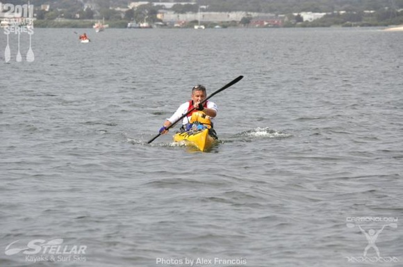 In the TFP kayak (male) division, The Riddler flies into the finish and a podium place