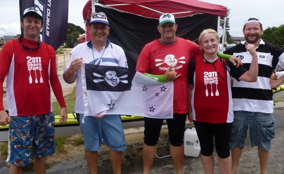 Team Fat Paddler racers for Summer Series Race 3 - Mogo, Riddler, FP, Meg and Nat