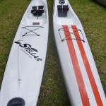 The Stellar SR and the Think Evo II - two great surfskis for two average paddlers!