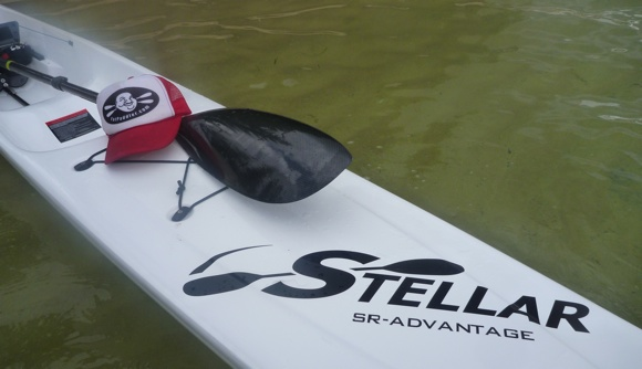The Stellar SR surfski - stable, fast,a big cockpit, and can hold up fat blokes!