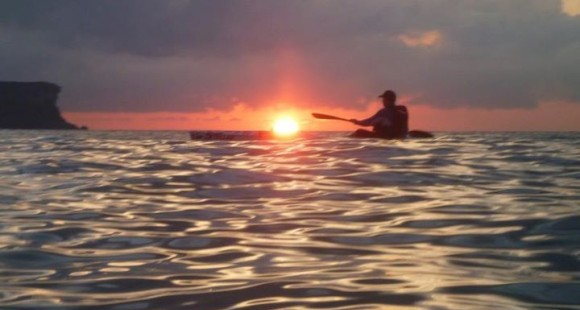 FP watched the sunrise from his Stellar SR surf ski. Magnificent!
