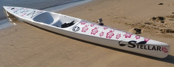 A 300lb bloke on a surf ski covered in pink flowers? Let the laughter commence!