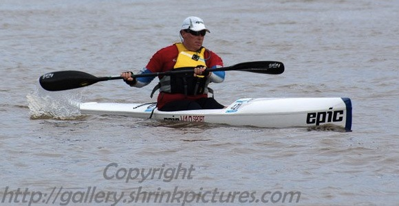 Team Fat Paddler SA member Brian in Back2Back 2012 (Img: Ray)