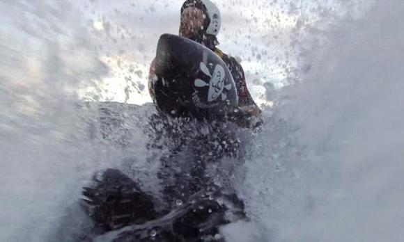 FP immersed in salty spray