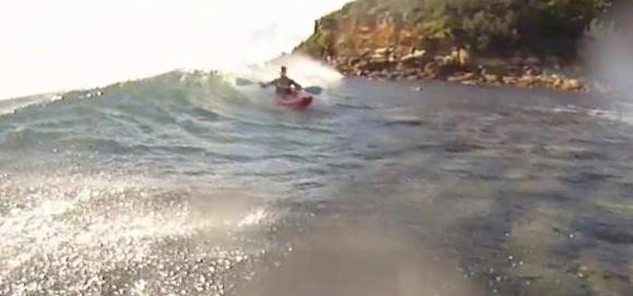 Gelo Surfing a surfski?? Not quite...