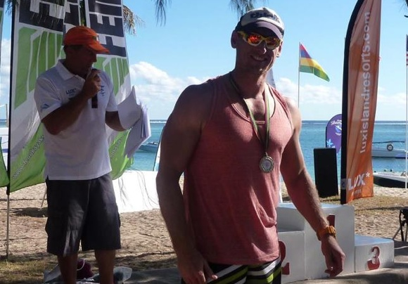 Fellow Aussie paddler Adam Fahey - a bloody big unit, but a top bloke all round