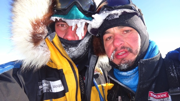 Extreme South - A very cold Cas and Jonesy