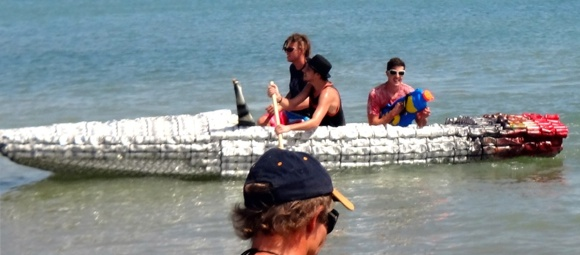 All sorts of boats have a go at the Darwin Beer Can Regatta