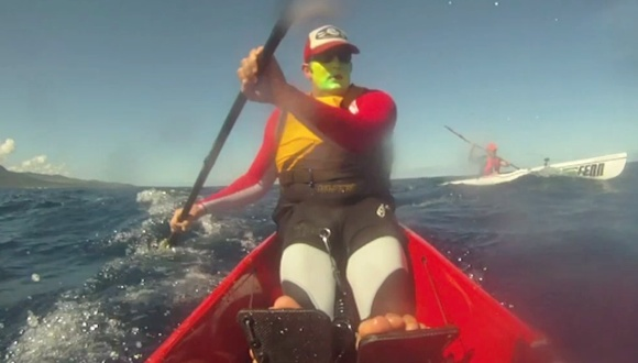 FP and Nat - two old friends, taking on the Mauritius Ocean Classic 2012 challenge together