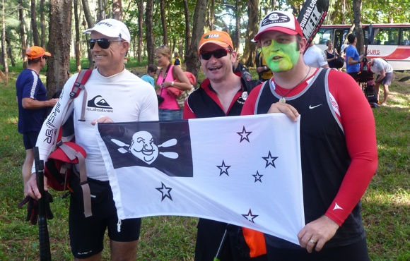 Pre-race antics from Team Fat Paddler and friends at the race start