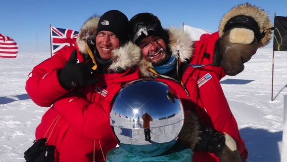 Extreme South - Cas and Jonesy at the South Pole