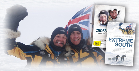 Cas and Jonesys' latest adventure - Crossing the Ice (DVD) and Extreme South (Book)