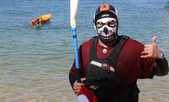 Fat Paddler ready for Murder Ball (shirt thanks to Neptunes Rangers, photo by Benefit Active)