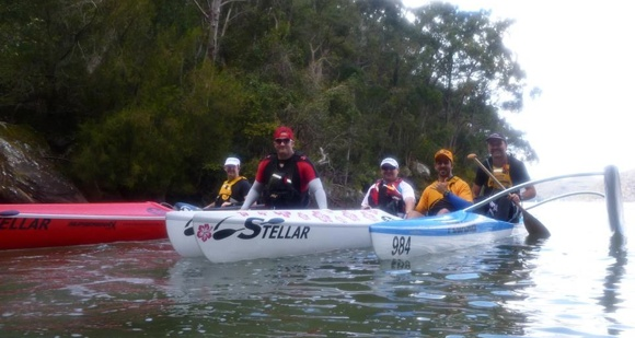 A few new faces, a few old faces. Team Fat Paddler members out on a training paddle.