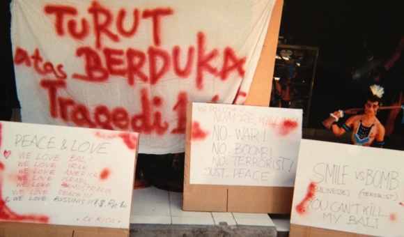 In the days after the bombing, signs of hope appeared in shattered stores all over Kuta.
