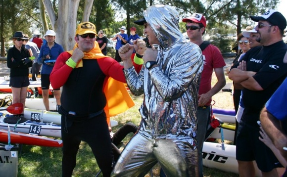 The paddlers of TFP with a bit of pre-race fun and games