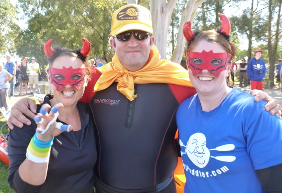You meet some funny characters at the Classic. Like these Spider-Devil girls!