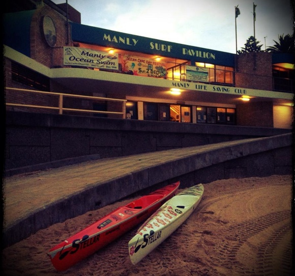 Manly Surf Club at dawn. A quiet and beautiful time of the day.