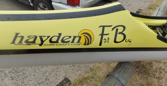 The Hayden Fat Boy spec surfski - suitable named for the paddlers and visitors to this site!