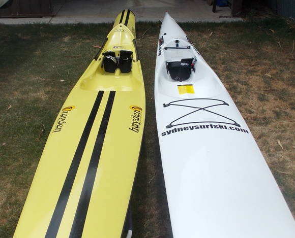 The Hayden Fat Boy has quite a different shape to most ocean surfskis