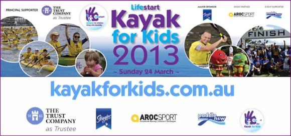 Lifestart Kayak for Kids - 24 March 2013 - Paddling for the Kiddies!
