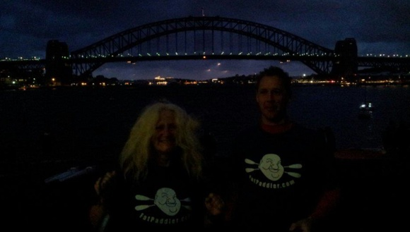 Team Fat Paddlers Meg and Rob arrive early at the start
