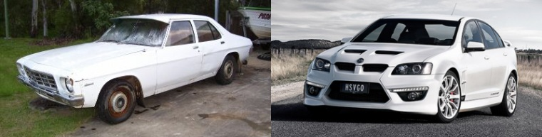 The Epic V8 Series 1 vs Series 2 is like comparing the Holden Belmont HQ to the Clubsport