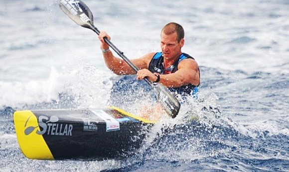 Matt O'Garey was nervous about taking on the Fat Paddler in the Bridge to Beach. He was lucky to escape this time....
