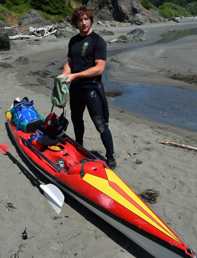 Don in Tsunami Ranger mode, somewhere on the US West Coast (photo credit: Jim Kakuk)