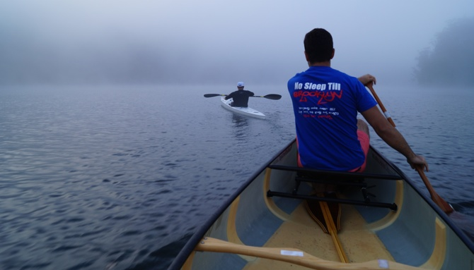Team Fat Paddler out early before the fog burnt off