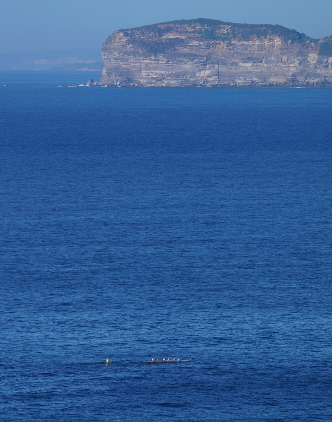 From my house on the hill, I watched the paddlers at play