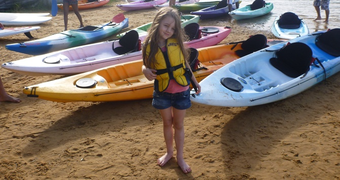 Time for a final paddle with my Miss6 in Avoca