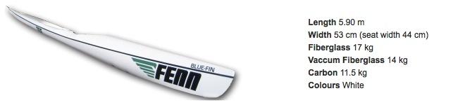 Fenn Blue-Fin surfski specs