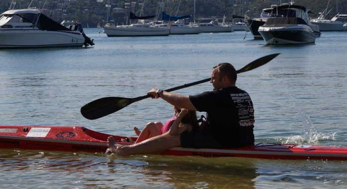 Fun times on the surfski for daddies and daughters