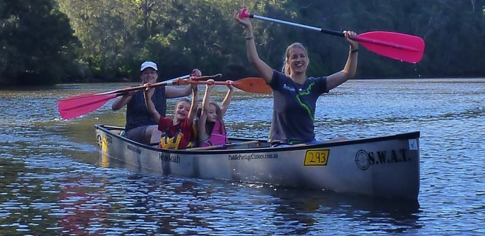 Even outdoor-challenged partners can have some fun in a canoe