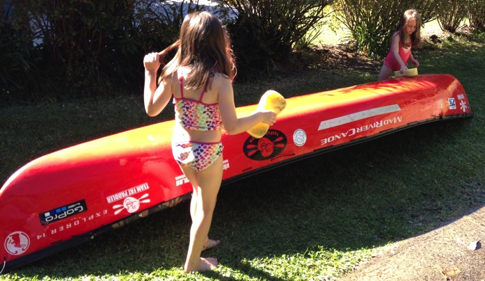 Everyone can help with the clean up chores after the paddle