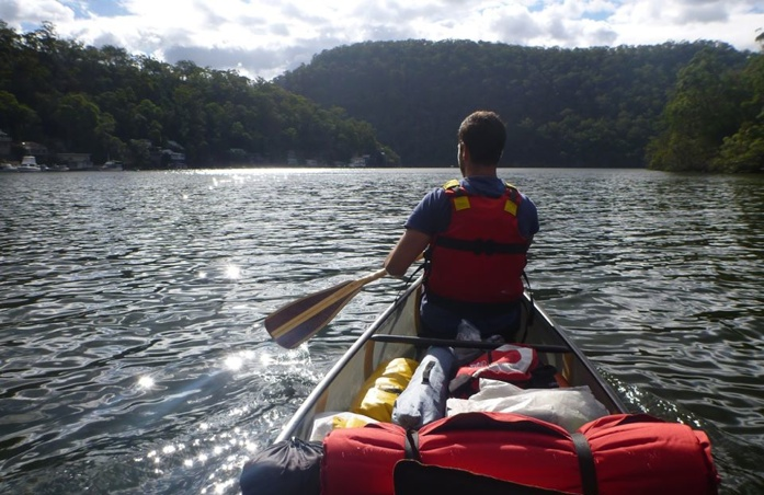 A canoe trip through the hills near Sydney