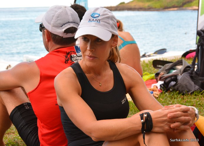 First-time racer Kassie contemplates the Mauritius reef (Img credit: Rob Mousley)