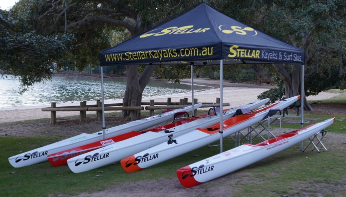 Stellar surfskis on display at Balmoral Beach Sydney