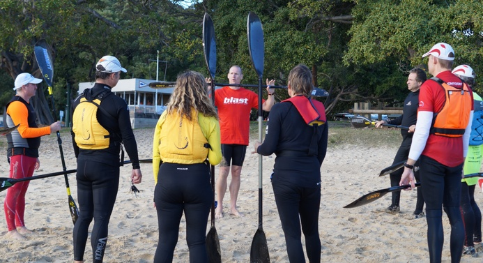 Surfski skills session with Wet Fitness coach Matt O'Garey