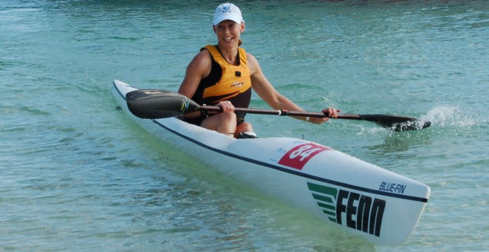 TFP rookie Kassie James finishing in the top 10 women in her first ever surf ski race.