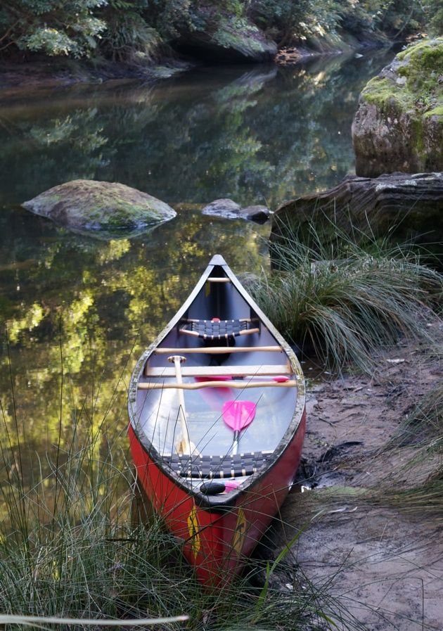 Wenonah Prospector 16 canoe at Berowra Gorge
