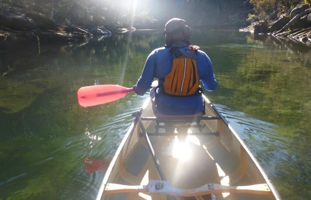 Exploring secrets spots in our Wenonah canoe